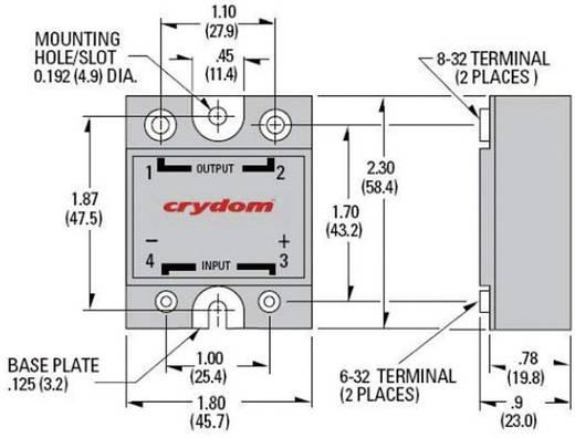 Elektronikus teljesítmény relé DC kimenettel 100 A 0-60 V/DC, Crydom D06D100