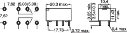 Kis relé 2 pólusú váltó 5V/DC