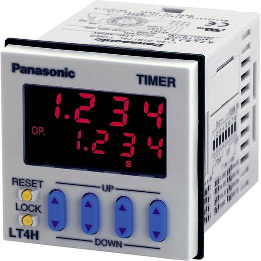 Digitális multifunkciós időrelé, 1 potenciálmentes váltó kimenet 24 V/DC/AC 5 A 250 V/AC, Panasonic LT4H24ACJ