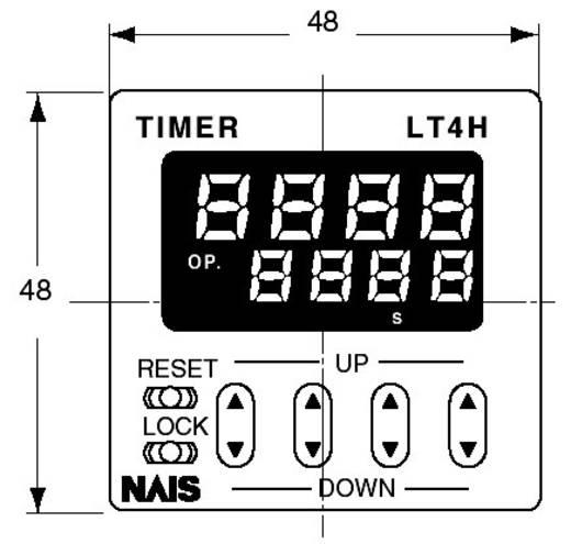 Digitális multifunkciós időrelé, 1 potenciálmentes váltó kimenet 24 V/DC 5 A 250 V/AC, Panasonic LT4H824ACJ