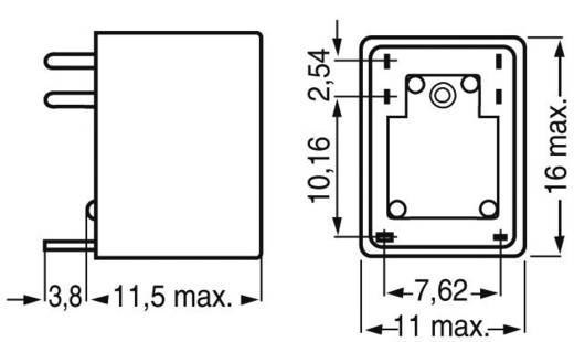 Kis relé 1 pólusú váltó 12 V/DC