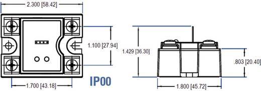 Kettős AC kimenetű elektronikus teljesítmény relé 2 x 50 A 48 - 660 V/AC, Crydom CD4850W3V