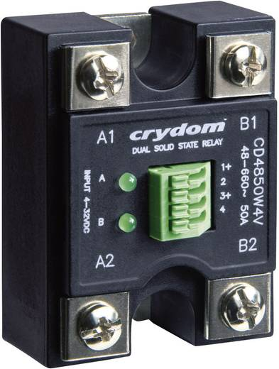 Kettős AC kimenetű elektronikus teljesítmény relé 2 x 50 A 48 - 660 V/AC, Crydom CC4850W4VR