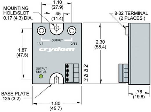 Proporcionális kimeneti szabályzású elektronikus teljesítmény relé 25 A 180 - 280 V/AC, Crydom MCPC2425C
