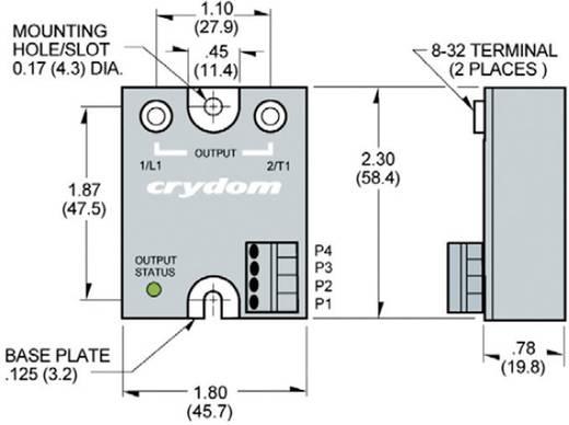 """Burst-Fire"" elektronikus teljesítmény relé 25 A 180 - 280 V/AC, Crydom MCBC2425CF"