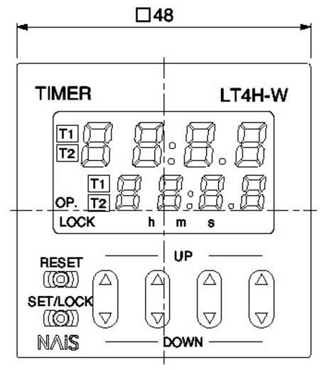 Digitális iker időrelé, 1 potenciálmentes váltó kimenet 100 - 240 V/AC 5 A 1250 VA, Panasonic LT4HW8240ACJ