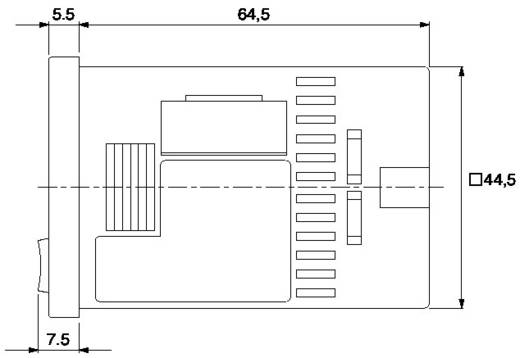 Digitális iker időrelé, 1 nyitott kollektoros kimenet 12-24 V/DC 0,1 A 3 W, Panasonic LT4HWT24SJ