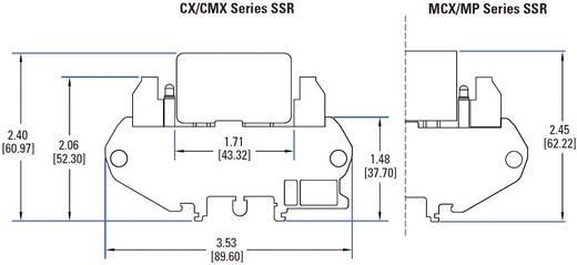 DC félvezető relé DIN sínre való szereléshez 0,02 - 3 A, 1 - 60 V/DC, Crydom DRA1-CMX60D5