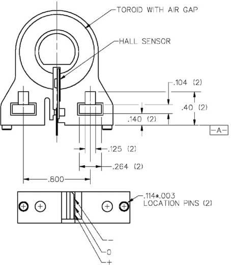 Lineáris áramérzékelő, 8-16 VDC, Honeywell CSLA1CD