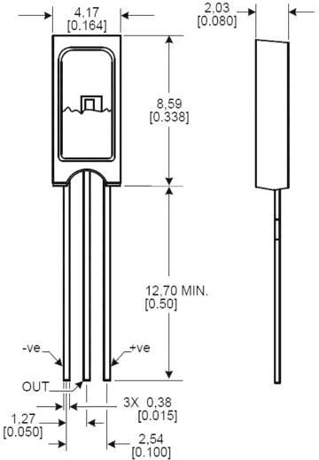 Páratartalom érzékelő szenzor, 0 - 100 %, -40...+85 °C, Honeywell HIH-4000-002