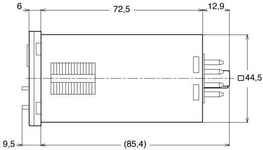 Panasonic multifunkciós időkapcsolórelé, 1 áramkör, 12-48V/AC/DC, 250V/5A, QM4HSU2C48VJ