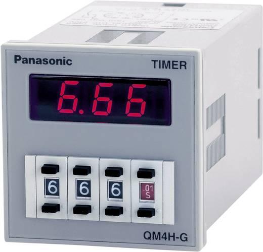 Panasonic multifunkciós időkapcsolórelé, 1 áramkör, 100-240V/AC/DC, 250V/5A, QM4HSU2C240VJ