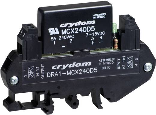 AC félvezető relé DIN sínre való szereléshez 0,06 - 5 A 48 - 530 V/AC, Crydom DRA1-MCXE380D5