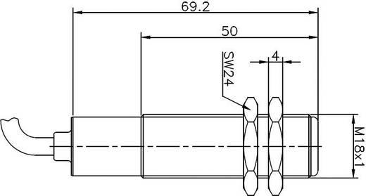 Reed mágneses kapcsoló metrikus házban 1 váltó 1 A 250 V/AC/DC 60 VA, Secatec MKG18OUAK