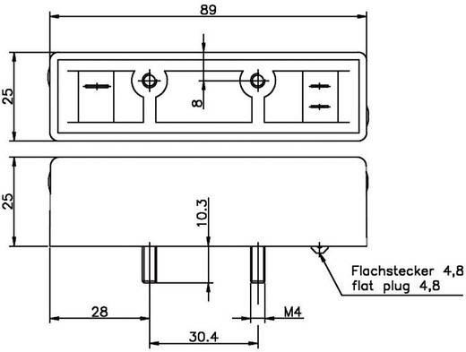 Felvonó kapcsoló LED kijelzővel, 1 záró (bistabil) 0,8 A 250 V/AC/DC 80 VA, Secatec MKF24ARAF