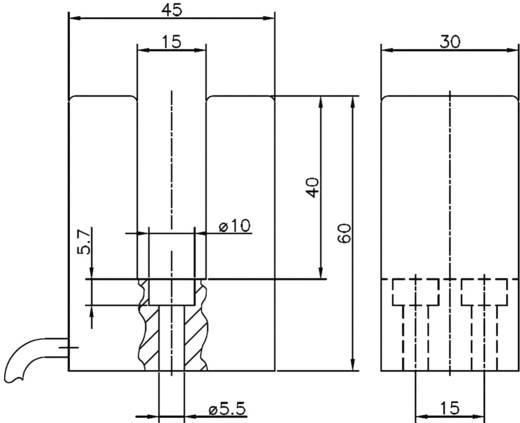 Reed villás mágnes kapcsoló, 1 váltó 1 A 150 V/AC/DC 20 VA, Secatec MKF30AUAK