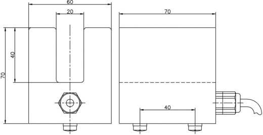 Reed villás mágnes kapcsoló, 1 váltó 1 A 250 V/AC/DC 40 VA, Secatec MKF71AUAK