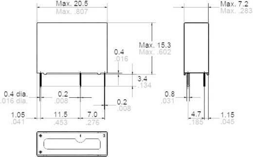 Teljesítményrelé Panasonic ALDP112 277 V/AC/30 V/DC, 1385 VA/150 W, 5 A, Monostabil, 12 V/DC, 1 záró