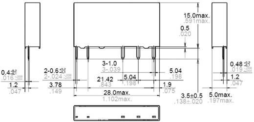 Teljesítmény relé 12 V/DC 1 záró, 6 A, 250 V/AC, 1500 VA, Panasonic APF30212