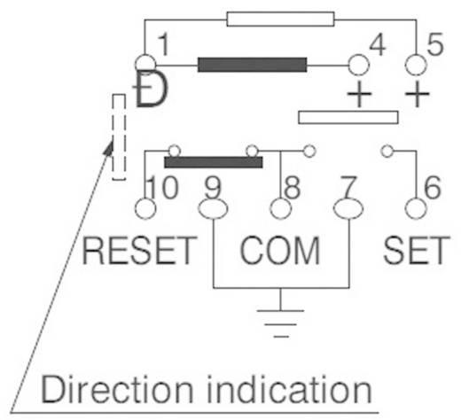 Nagyfrekvenciás nyák relé ARS 3 GHz Panasonic ARS1612 30 V/DC, 500 mA, bistabil/2 tekercs, 12 V/DC, 1 váltó, aranyozott