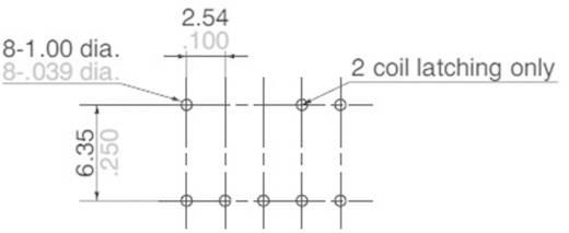 Nagyfrekvenciás nyák relé ARS 3 GHz Panasonic ARS1412 30 V/DC, 500 mA, monostabil, 12 V/DC, 1 váltó, aranyozott