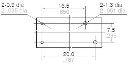 Teljesítmény relé 12 V/DC 1 záró, 10 A 277 V/AC 2216 VA, Panasonic LKP1AF12