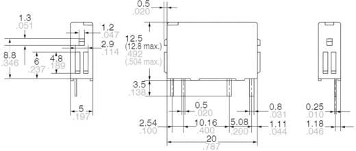 Teljesítményrelé, nyákba ültethető, PA 5 Panasonic PA1A12 1250 VA, 250 V/AC, 5 A, Monostabil, 12 V/DC, 1 záró