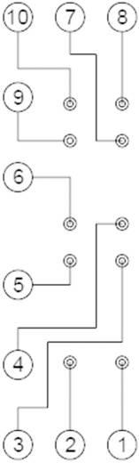 DIN sín foglalat SFS reléhez, Panasonic SFS4SFD