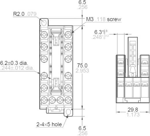 DIN sín foglalat SFS reléhez, Panasonic SFS6SFD