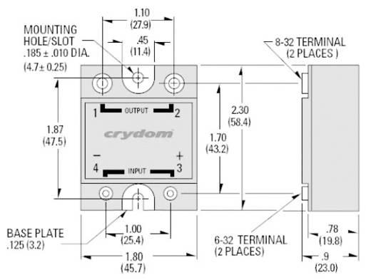 Elektronikus teljesítmény relé 90 A 48-530 V/AC, Crydom HD4890