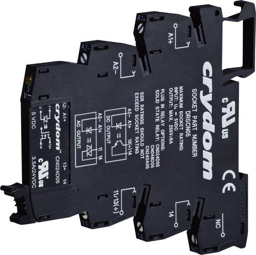Elektronikus teljesítmény relé 0,1 A 0-48 V/DC, Crydom DR-CN048D05