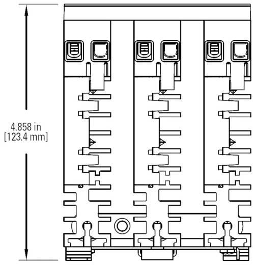 3 fázisú félvezető relé 3 x 25 A 48 - 600 V/AC, Crydom CTRD6025