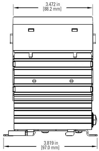 3 fázisú félvezető relé 3 x 25 A 48 - 600 V/AC, Crydom CTRC6025