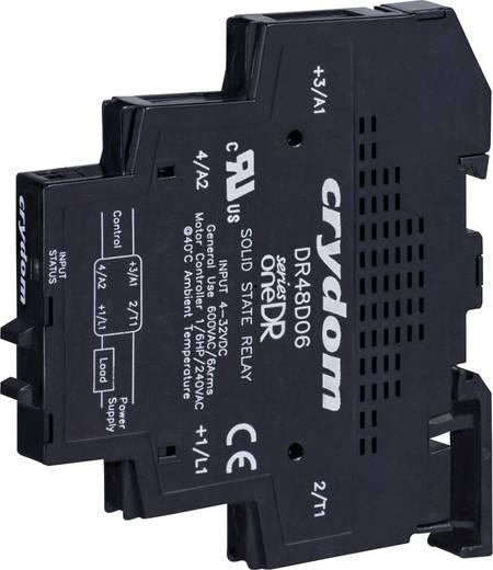 Elektronikus teljesítmény relé DIN sínre szereléshez 6 A 48-600 V/AC, Crydom DR48D06