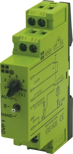 Csatoló relé modul 24 V/AC/DC, 0-10 V, TELE OVP1