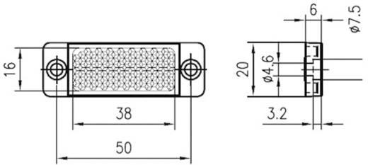 Fényvisszaverő prizma, ragasztható/csavarozható, Leuze Electronic TKS 20 x 40