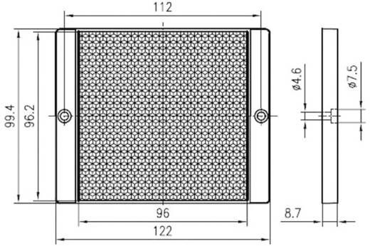 Fényvisszaverő prizma, ragasztható/csavarozható, Leuze Electronic TKS 100 x 100