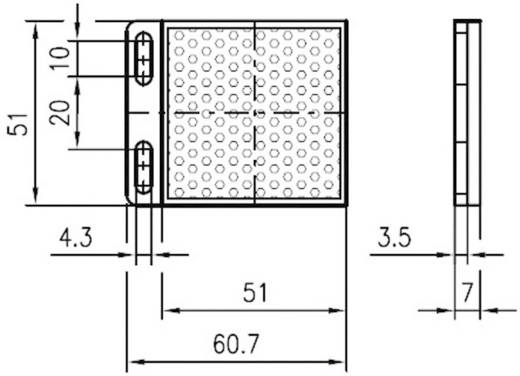 Fényvisszaverő prizma, csavarozható, Leuze Electronic MTKS 50 x 50