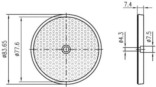 Fényvisszaverő prizma, csavarozható, Leuze Electronic TK 82.2