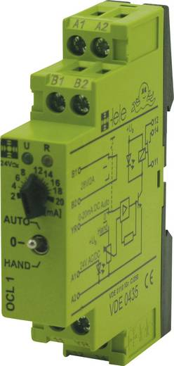 Csatoló relé modul 24 V/AC/DC, 0-20 mA 1 váltó 5 A, TELE OCL1