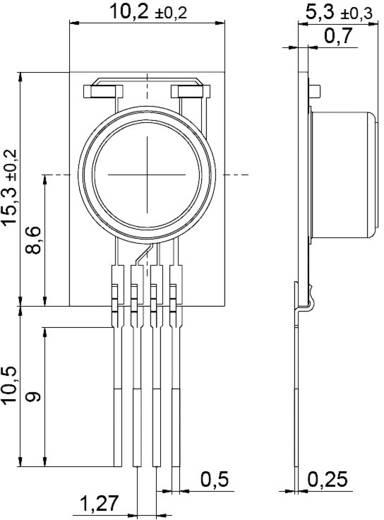 Digitális páratartalom-/hőmérséklet érzékelő (±1,8 %) 0 - 100 % rF, (±0,2 °C) -40 - +125 °C, IST AG HYT 221