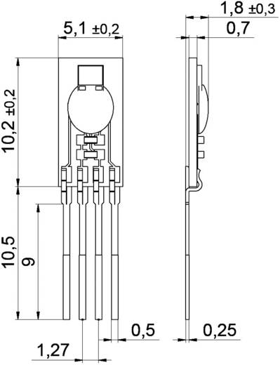 Digitális páratartalom-/hőmérséklet érzékelő (±1,8 %) 0 - 100 % rF, (±0,2 °C) -40 - +125 °C, IST AG HYT 271
