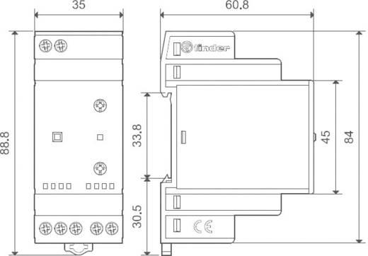 Finder DIN sínes alkonykapcsoló, 230V/AC, 1-80/30-1000 lux, 1 áramkör, 11.41.8.230.0000