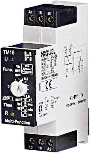 HIQUEL multifunkciós időkapcsolórelé, 1 áramkör, 230V/10A, TM16 = TM 16+