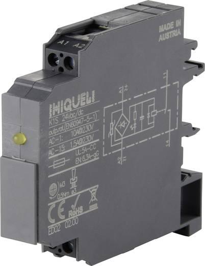 Csatoló relé modul 12 mm 2 záró 10 A, Hiquel K1S 24Vac/dc