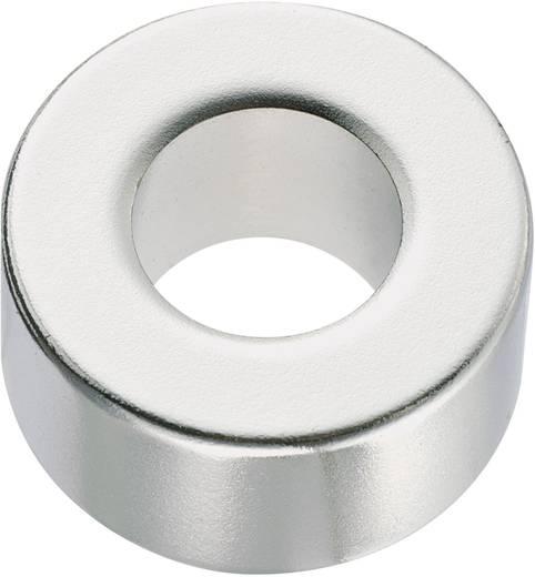 Kerek mágnes NdFeB (gyűrű forma) 1,18-1,24 T, Ø 20 x 2 mm, anyag: N35