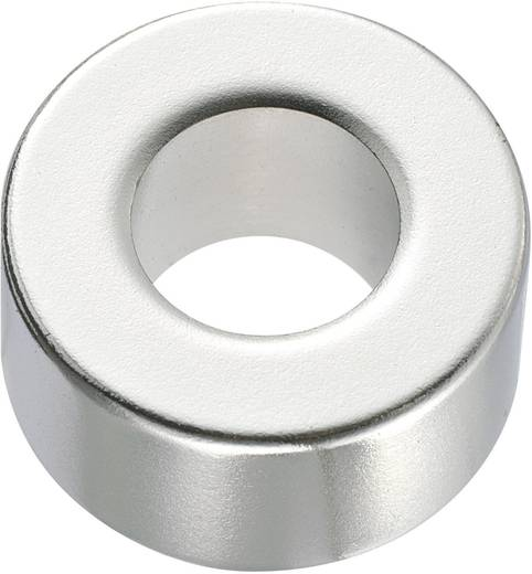 Kerek mágnes NdFeB (gyűrű forma) 1,33-1,37 T, Ø 10 x 5 mm, anyag: N45