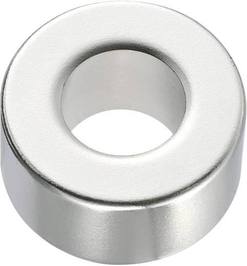 Kerek mágnes NdFeB (gyűrű forma) 1,33-1,37 T, Ø 20 x 10 mm, anyag: N45