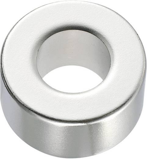 Kerek mágnes NdFeB (gyűrű forma) 1,33-1,37 T, Ø 20 x 2 mm, anyag: N45