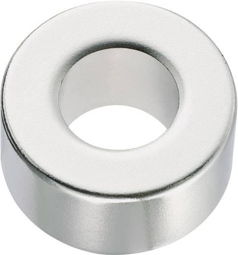 Kerek mágnes NdFeB (gyűrű forma) 1,18-1,24 T, Ø 10 x 2 mm, anyag: N35M
